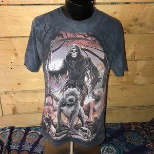 Grim Reaper acid dyed. Size M